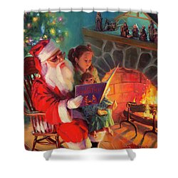 Shower Curtain featuring the painting Christmas Story by Steve Henderson