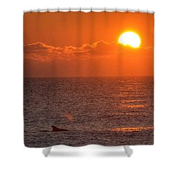 Christmas Sunrise On The Atlantic Ocean Shower Curtain