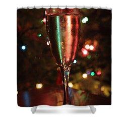 Christmas Toast Shower Curtain by Lauri Novak