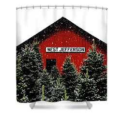 Christmas Town Shower Curtain by Dale R Carlson