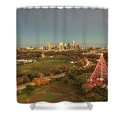 Christmas Tree In Austin Shower Curtain