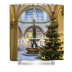 Christmas Tree In Ferstel Passage Vienna Shower Curtain