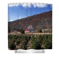 Christmas Tree Shopping Shower Curtain
