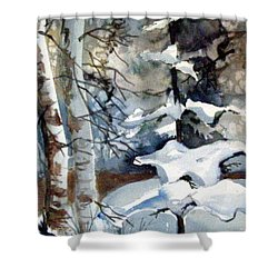 Christmas Trees Shower Curtain by Mindy Newman