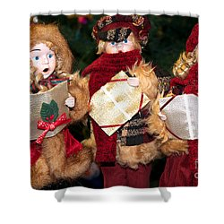 Christmas Trio Shower Curtain by Vinnie Oakes