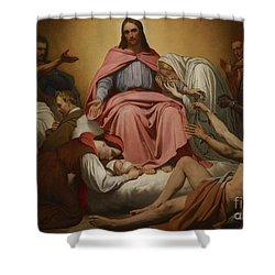 Christus Consolator Shower Curtain by Ary Scheffer