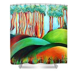 Forest Waltz Shower Curtain by Elizabeth Fontaine-Barr