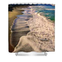 Chromatic Aberration At The Beach Shower Curtain