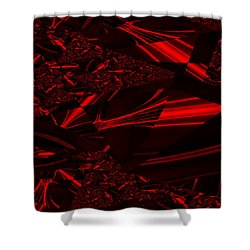 Chrome In Red Shower Curtain by Clayton Bruster