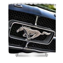 Chrome Stallion - Ford Mustang Shower Curtain by Gordon Dean II