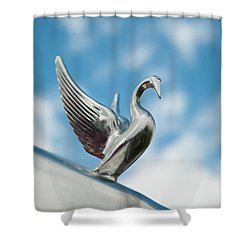 Chrome Swan Shower Curtain