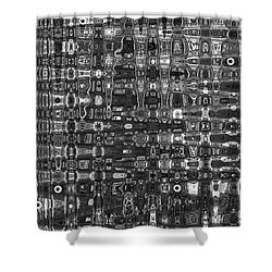 Shower Curtain featuring the photograph Chromosome 22 Bw by Diane E Berry