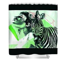 Chronickles Of Zebra Boy   Shower Curtain