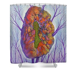 Chrysalis Shower Curtain by J W Kelly