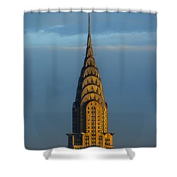 Chrysler Building In The Evening Light Shower Curtain by Diane Diederich