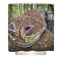 Chrysler In Decay Shower Curtain