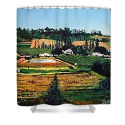 Chubby's Farm Shower Curtain by Tim Johnson