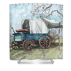 Chuck Wagon Shower Curtain