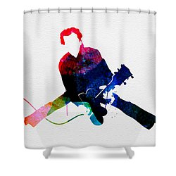 Chuck Watercolor Shower Curtain
