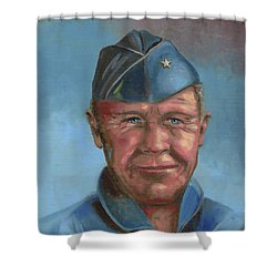 Chuck Yeager Shower Curtain