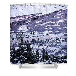 Chugach In Alpenglow Shower Curtain