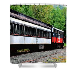 Shower Curtain featuring the photograph Chugging Along by RC DeWinter