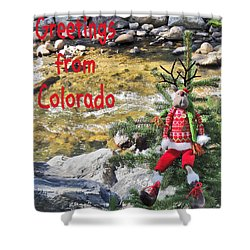 Chumps Christmas Shower Curtain