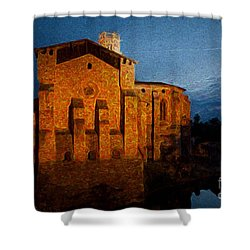 Shower Curtain featuring the photograph Church 1 by Jean Bernard Roussilhe