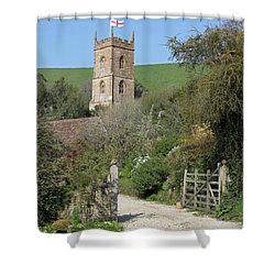 Church And The Flag Shower Curtain