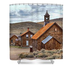 Church At Bodie Ghost Town Shower Curtain