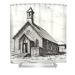Church Bodie Ghost Town California Shower Curtain by Kevin Heaney