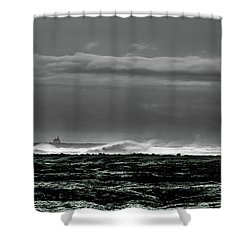 Church By The Sea Shower Curtain