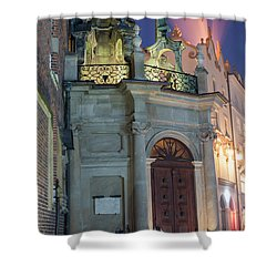 Shower Curtain featuring the photograph Church Door by Juli Scalzi