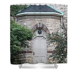 Church Door Shower Curtain by Lauri Novak