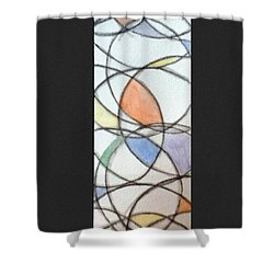 Church Glass Shower Curtain