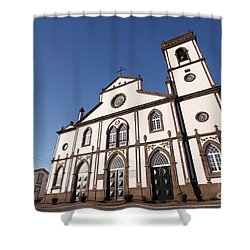 Church In Azores Islands Shower Curtain by Gaspar Avila