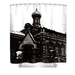 Shower Curtain featuring the photograph Church In Belarus by Vadim Levin