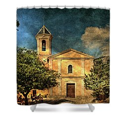 Church In Peillon Shower Curtain