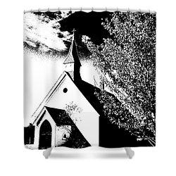 Church In Shadows Shower Curtain