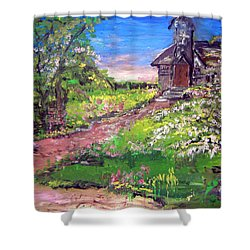 Church In The Woods Shower Curtain