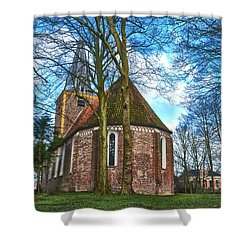 Church In Winsum Shower Curtain