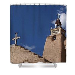 San Jose De Gracia Church, Las Trampas, N.m. Shower Curtain