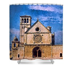 Church Of Assisi Shower Curtain