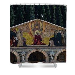 Church Of Gethsemane Shower Curtain