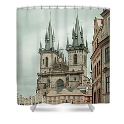 Shower Curtain featuring the photograph Church Of Our Lady Before Tyn by Jenny Rainbow