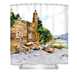 Church Of Primacy, Galilee Shower Curtain