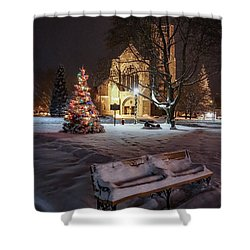 Shower Curtain featuring the photograph Church Of St Mary St Paul At Christmas by Kendall McKernon