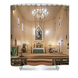Shower Curtain featuring the photograph Church Of The Assumption Of The Blessed Virgin Altar by Andy Crawford