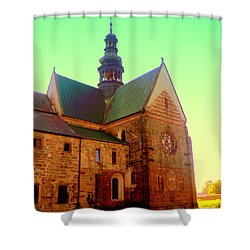 Church Of The Blessed Virgin Mary And St. Florian In The Wachock Shower Curtain