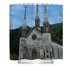 Shower Curtain featuring the photograph Church Of The Holy Cross by Rod Wiens